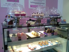 cupcake display counter & fridge