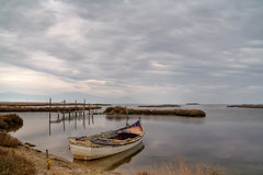 Boat (elkost) Tags: sea sky clouds reflections geotagged boat kalochori geo:lat=40628261 geo:lon=22844165