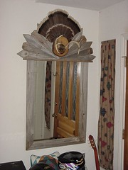 mirror frame of fence posts (rick cottontree) Tags: mirror hand handmade made handcrafted woodworking crafted