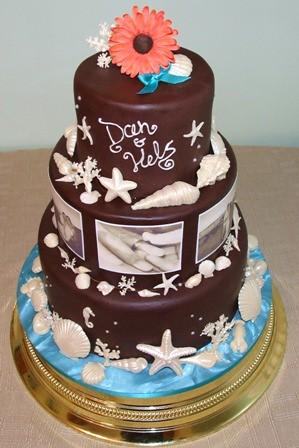 Chocolate Sea Themed Wedding Cake