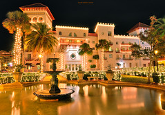 Casa Monica Hotel St Augustine, Florida (JamesWatkins) Tags: longexposure fab art architecture night buildings reflections nikon colorful downtown poetry florida digitalart cities wideangle uptown nighttime writers nightlight wa colorfullights brightlights nightshots hotels fountains poems lightandshadow hdr poets nighthawks nightvisions d300 sigma1020mm creativewriting saintaugustine spanishinfluence photomatix downtownatnight buildingsatnight beautifularchitecture addictedtoflickr staugustinefl beautifulbuildings jameswatkins hdrphotos spanishrenaissance impressedbeauty spanishrenaissancestyle hdrshots spanishrenaissancearchitecture architectureatnight downtownstaugustine beautifulhotels latininfluence fountainsandreflections floridacities staugustinebuildings poemsandprose