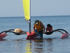 Windrider trimaran, my dog & daughter (JamieK2007) Tags: sailing novascotia northumberland windrider trimaran