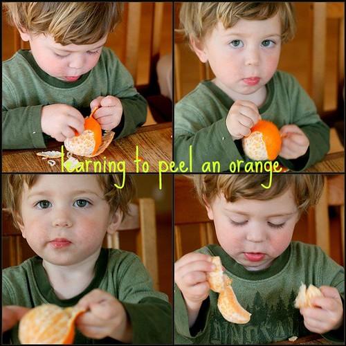 Orange peeling