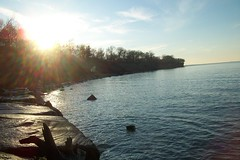 its always sunny (rpastorelle) Tags: sun lake coast rocky shore erie lakewood