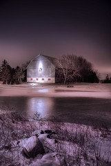 Another late night Drive (Insight Imaging: John A Ryan Photography) Tags: longexposure winter snow toronto ontario night barn milton hdr aficionados pentaxk10d justpentax wwwinsightimagingca johnaryanphotography hpcwinterwonderland