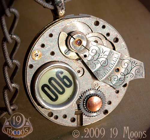 THE PRISONER Vintage Steampunk Necklace by 19 Moons