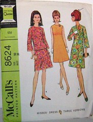Vintage McCalls 8624 Pattern in Three Versions A Line Dress Top Skirt Bell Sleeves Size 10 Bust 31, Waist 24, Hip 33 (Sassy By Design) Tags: she vintage clothing mod 60s flickr pattern sewing womens blouse cast etsy size10 alinedress alineskirt bust31 waist24 hip33 sassybydesign