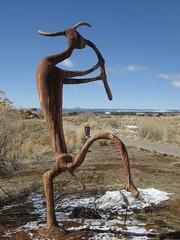 Picture or Video 130 (reflectification) Tags: sculpture statue utah desert moab desierto blanding edgeofthecedars