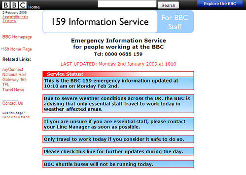 Emergency Information for BBC Staff
