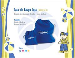saco de roupa suja azul