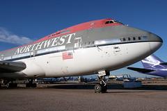 Northwest Airlines Boeing 747-251B N626US (Flightline Aviation Media) Tags: airplane airport northwest canon20d aircraft aviation jet boeing airlines 747 stockphoto marana 747200 pinalairpark mzj kmzj 747251 n626us bruceleibowitz