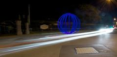 Forget me not... (alexkess) Tags: bridge blue light lightpainting night dark dangerous nikon long exposure flickr sydney orb australia led nsw dads shire alexander pyro sparks sutherland steelwool sifa firepainting woronora d700 alexkess kesselaar lightpainters firewool
