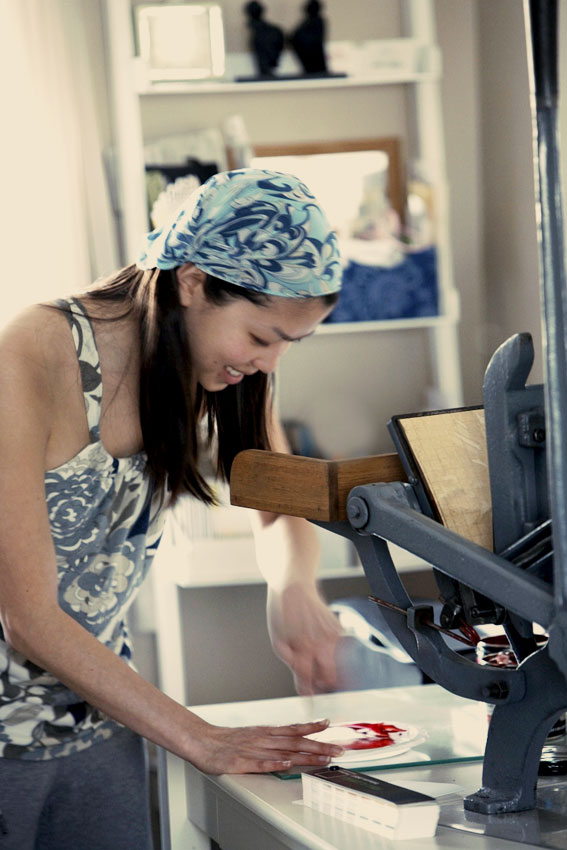 press + printer