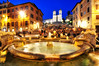 The Spanish Steps at Night (Seth Oliver Photographic Art) Tags: italy rome nikon nightlights cityscapes landmarks piazzadispagna nightshots blueskies fountains pinoy spanishsteps nightscapes romeitaly longexposures starbursts piazzas d90 nightexposures 25secondexposure lightbursts ancientcities motionblurs historicalcities fountainoftheoldboat setholiver1 aperturef160 nocturneimages 1024mmtamronuwalens ballheadtripodmountedshot timedelaytriggeredshot nihtimages piazzatrinitadiemonti fontanadellabarccacia goldennightlights churchoftrinitydiemonti