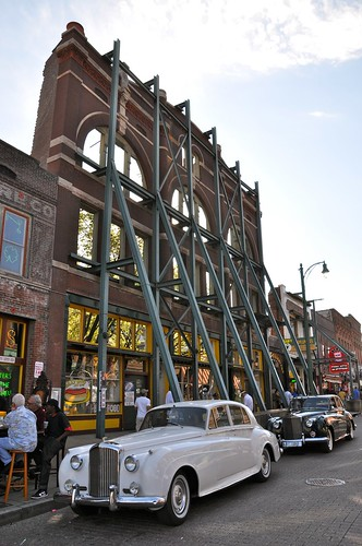 Facade and Vintage Cars Beale Street Memphis TN