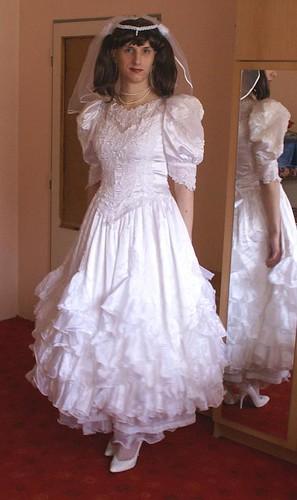 Crossdresser wedding dress