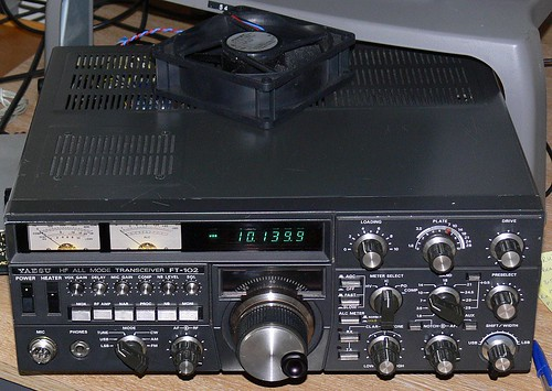 Yaesu FT-102 In Action (Amateur Radio Station G4FUI) Tags: classic radio