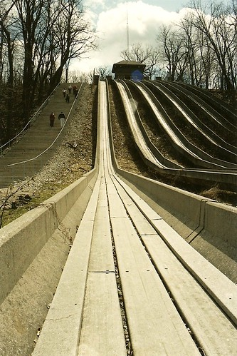 Swallow Cliff Toboggan Slides - Palos Park, IL.  4/13/08
