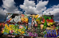 Le Mur du Bonheur / The Wall of the Happiness (mouzhik) Tags: canon catchycolors soleil nanterre happiness fortune felicidad bliss polarizer nuages mur bonheur 1022mm fortuna goodluck zemzem glck weitwinkel felicit muzhik luckiness  grandangle  lafermedubonheur moujik diamondclassphotographer flickrdiamond eos40d virela gardela gardela2 virela3 virela4 virela5  ksemann mouzhik bwcplmrcfilter thewallofthehappiness virala2  lemurdubonheur