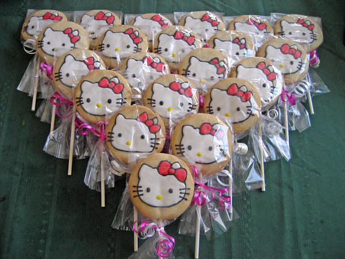 Hello Kitty Cookies on a stick