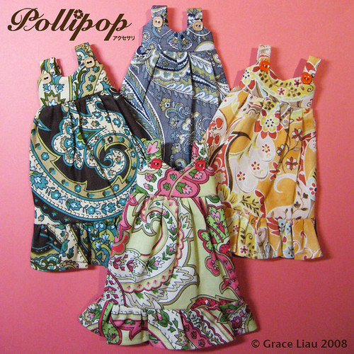 Tiger Hat and Dress Crochet Pattern For Blythe Dolls by kandjdolls