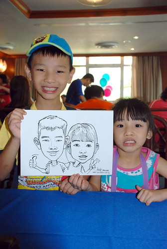 Caricature live sketching Temasek Fun Day 11