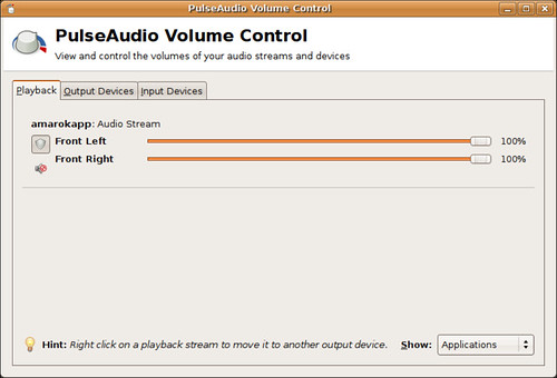 Screenshot-PulseAudio Volume Control