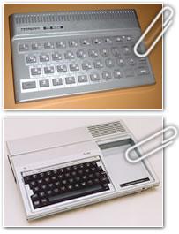 Czerweny CZ1500 (clon de las Sinclair TS de 16Kb.) y Texas Instruments TI-99/4A