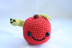 Apple with worm :) (Pink Pixel Photography (f.k.a. Sunny)) Tags: apple japanese handmade crochet worm amigurumi apfel craftwork thefunhouse wurm handgemacht hkeln japanisch handarbeit gehkelt