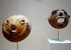 Tlatilco masks (ggnyc) Tags: nyc newyorkcity sculpture newyork museum ceramic mexico mesoamerica faces mask manhattan masks ritual met precolumbian metropolitanmuseumofart mesoamerican supernatural ceremonial precolumbianart ancientmexico mesoamericanart tlatilco