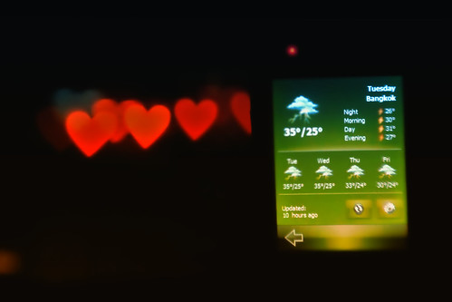 Weather Forecast : Heavy lovefall tonight (by kktp_)