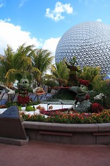 Epcot Mickey and Minnie Plantings