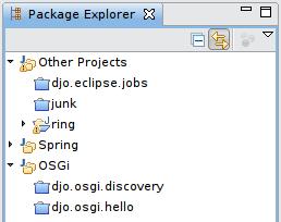 Package Explorer après