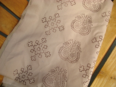 paisley print cloth