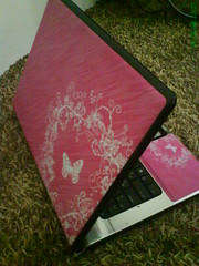 my new pinkish Skin =D (Ms..G) Tags: pink hp skins laptop
