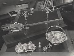 Silver items of value including ceremonial mace, the University of Newcastle, Australia (UON Library,University of Newcastle, Australia) Tags: art australia nsw mace newcastleuniversity visualart universityofnewcastle p797 p79755 uonphotographeruon