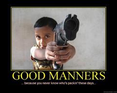 d packin (dmixo6) Tags: danger kid funny gun motivator child packing fear security humour 45 weapon irony terror despair motivation parody demotivator motivate manners motivational demotivation gunman demotivational politeness dmixo6