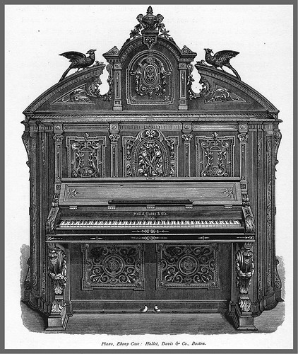 Piano con caja de ebano