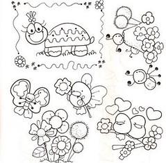 Jardim 1 (Lucia Helena Cesar) Tags: feltro desenhos figuras riscos moldes patchcolagem