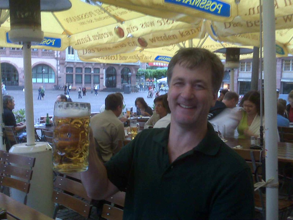 Me and the huge beer in Germany