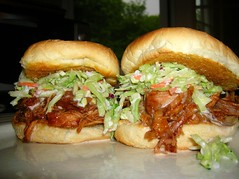 Homemade BBQ Pulled Pork Sandwiches with Homemade Coleslaw