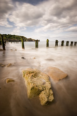 Sandsend, North Yorkshire (@OutdoorsMH) Tags: uk longexposure sea seascape 20d beach canon landscape eos coast seaside movement sand rocks yorkshire sigma coastal 1020mm northyorkshire groynes sandsend yorkshirecoast