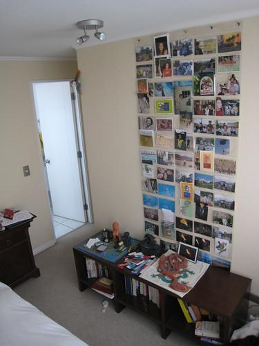 Chambre, livres et photos