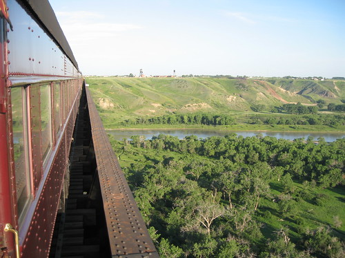 Trestle Bridge, Alberta, from the Royal Canadian Pacific