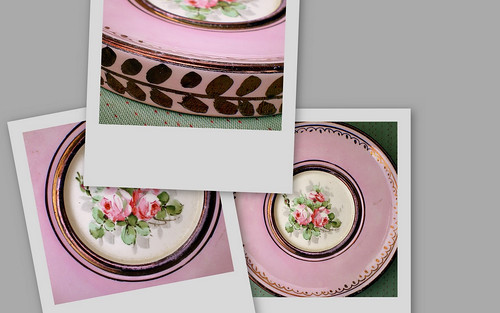 Timeworn Delight:  Hand-painted Pink Rose Wall Plaque