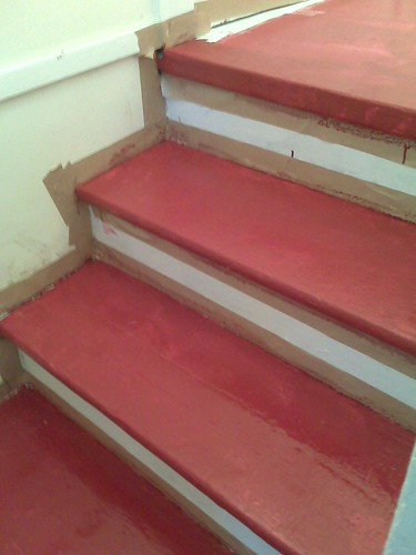 new red stairs
