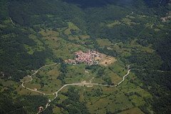 Fego village (_ Night Flier _) Tags: above travel sky italy panorama green nature airplane landscape town flying high village view earth top aviation hill aerial fromabove agriculture lombardia piacenza cessna skyview lombardy birdeye aeronautic oltrep fego splendidoltrep