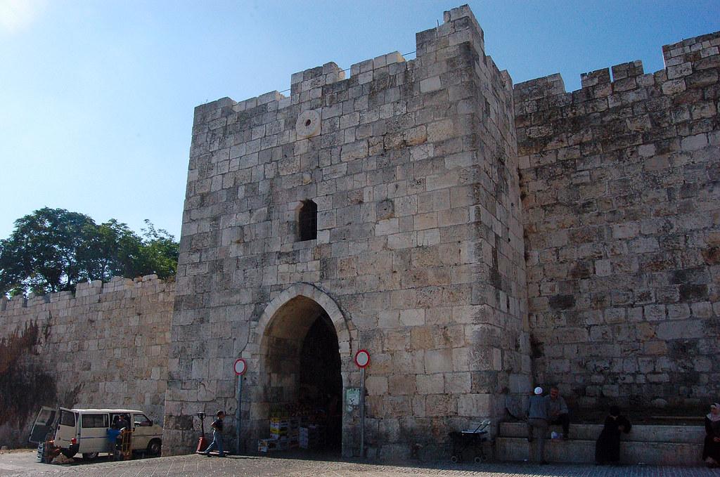 Herod Gate,  יְרוּשָׁלַיִם Jerusalem 耶路撒冷