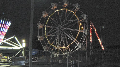The Ferris Wheel lit up. Kiddieland Amusement Park. Melrose Park Illinois. July 2008. by Eddie from Chicago