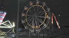 The Ferris Wheel lit up. Kiddieland Amusement Park. Melrose Park Illinois. July 2008.